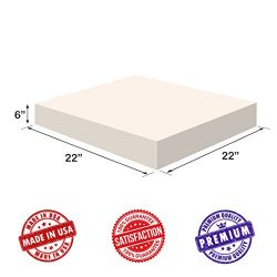 Upholstery Foam-Square Cushion Sheet- Firm Soft Support-Premium Luxury Quality-Good for Chair Cu ...