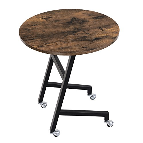 SONGMICS Vintage End Table, Mobile Side Table For Living