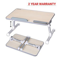 Adjustable Laptop Table, Laptop Stand For Bed and Sofa, Portable Standing Desk, Foldable Breakfa ...