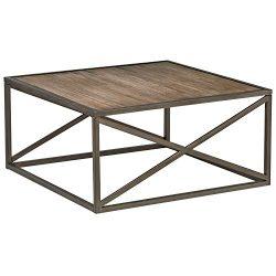 Stone & Beam Roland X-Frame Coffee Table, 36″ W, Pine