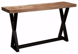 Ashley Furniture Signature Design – Wesling Sofa Table – Mango Wood Top – Vint ...