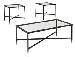 Ashley Furniture Signature Design – Augeron Contemporary 3-Piece Table Set – Include ...