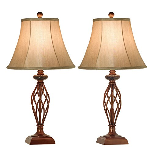 Large Table Lamps For Living Room: Table Lamps Set Of 2 For Living Room Or Bedroom, 27.5 In