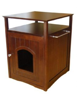 Merry Pet Products Pet House, Litterbox Cover and Night Stand, Walnut, 20.5″ D x 19″ ...
