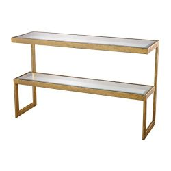 Dimond Home 114-145 Key Console Table, 54″ x 16″ x 33″, Gold Leaf