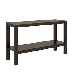 Parsons Narrow Living Room Entryway Sofa Console Storage Table With Bottom Under Storage Shelf,  ...