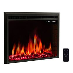 "R.W.FLAME 39"" Electric Fireplace Insert,Freestanding & Recessed Electric Stove Heater, ..."