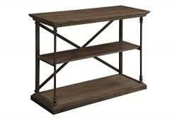 Treasure Trove Accents 17465 Corbin Console Table, Medium Brown