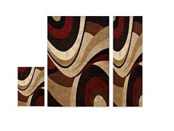 Home Dynamix Tribeca Slade Area Rug | Contemporary Living Room Rug | Bold Abstract Design | Warm ...