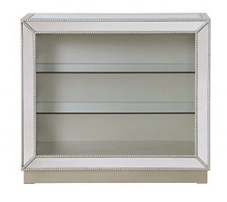 Treasure Trove 17327 Mirrored Curio Cabinet, Mirrored
