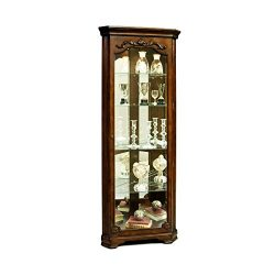 Sofaweb.com Warm Brown Corner Curio Cabinet