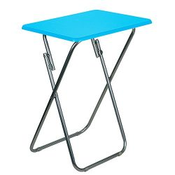 DecorRack Foldable Snack Table, 26 inch Portable Lightweight Folding Table, TV Tray Table, Small ...