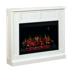 ClassicFlame 36WM2383-T401 Transitional Wall Fireplace Mantel, White (Electric Fireplace Insert  ...
