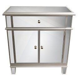 Décor Therapy FR1792 Fr1792 Chest, 16″ W X 32″ D X 32″ H, Silver