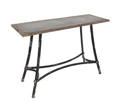 Deco 79 84253 Rectangular Metal Console Table, 30″ H, Brown/Black