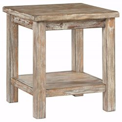 Ashley Furniture Signature Design – Vintage Chair Side End Table – Rustic Brown