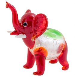Geff House Miniature Glass Baby Elephant Figurine Curio Gift