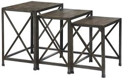 Ashley Furniture Signature Design – Vennilux Nesting End Tables – 3 Piece Table Set  ...