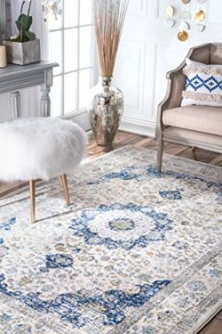 nuLOOM 200RZBD07A Traditional Persian Fancy Verona Area Rug, 12′ x 15′ , Blue