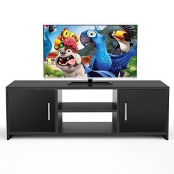Homfa TV Stand Storage Console Entertainment Center Media Console Cabinet with 2 Doors Bins and  ...