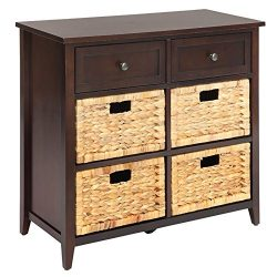 Bowery Hill 6 Drawers Accent Chest in Espresso