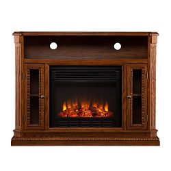 TV Stand Electric Fireplace Media Console Entertainment Center Storage Cabinet Remote Control Flames