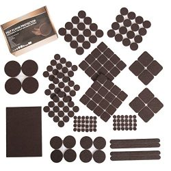 Furniture Felt Pads XL Set 185 pcs Pack! Floor Protector for Wood, Tile Floor and All Hard Surfa ...
