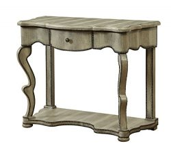 Treasure Trove Accents 17570 One Drawer Console Table, Burnished Textured