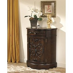 Ashley Norcastle Accent Cabinet in Dark Brown