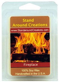 100% Soy Wax Melt Tart – Fireplace: A woodsy, earthy aroma. True to it's name. ̵ ...