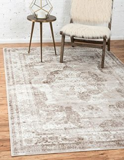 Unique Loom Sofia Collection Traditional Vintage Beige Home Décor Area Rug (9′ x 12′)