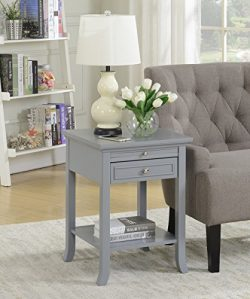 Convenience Concepts 7102045GY American Heritage End Table, Gray