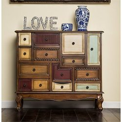 Bowery Hill 9 Drawer Accent Chest in Antique Walnut