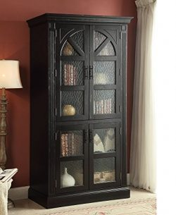 ACME Rica Weathered Black Curio Cabinet