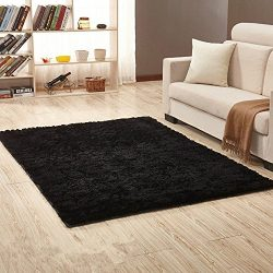 Sytian 4 Feet X 5 Feet Super Soft 4.5cm Thick Indoor Morden Shaggy Area Rugs Pads Non Slip Absor ...