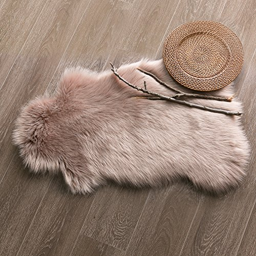 Ashler Soft Faux Sheepskin Fur Chair Couch Cover Area Rug