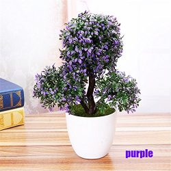LKXHarleya Artificial Flower Plants Potted Fake Flower Pine Trees Bonsai for Home Office Greener ...
