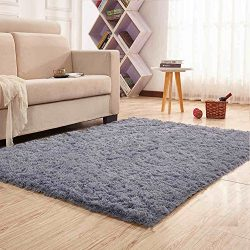 Noahas Super Soft Modern Shag Area Rugs Fluffy Living Room Carpet Comfy Bedroom Home Decorate Fl ...