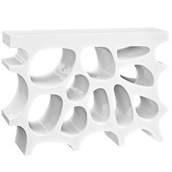 Modway Wander Small Stand In White – Modern Side Table For Entryway – Magazine Or Bo ...