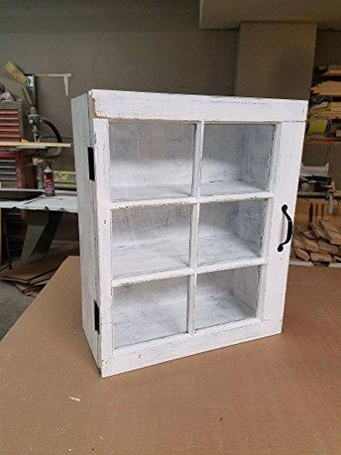 bathroom storage cabinet – wooden medicine cabinet – 6 pane wood window medicine cab ...