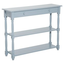 "HOMCOM 40"" Wood Entryway Console Table – Grey"