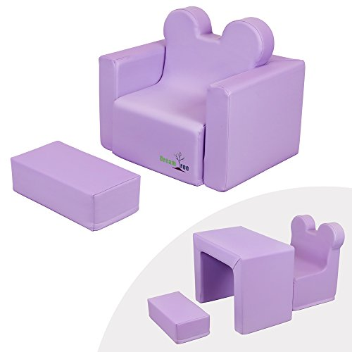 Dream Tree Toddler Table and Chair Set (Sofa Type) Washable, Safe Non-Toxic CPSIA Compliant Soft ...