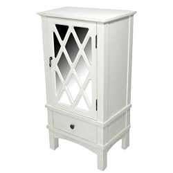 Heather Ann Creations The Cottage Collection Modern Style Wooden Living Room Single Door and Dra ...