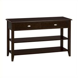Jofran 10304, Merlot Collection 1030-4 48″ Sofa/Media Table with Two Drawers, Two Shelves  ...