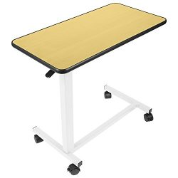 Vive Overbed Table – Swivel Wheel Rolling Tray Table – Adjustable Bed Table for Home ...