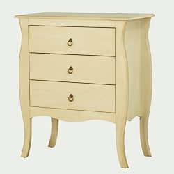 Target Marketing Systems 41903AWH 3-Drawers Accent Side Table, Antique White