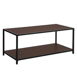 SONGMICS Coffee Table, with Storage Shelf, Metal Frame Cocktail Table, for Living Room and Offic ...