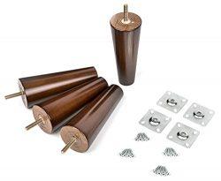 6″ Solid Wood Furniture Legs | 100% Oak, Set of 4, Mid-Century Modern | Great IKEA hack fo ...
