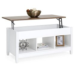 Best Choice Products Modern Home Lift Top Coffee Table Furniture w/Hidden Storage and Lift Table ...