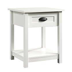 Sauder County Line Night Stand, 19.84″ L x 18.66″ W x 23.9″ H, Soft White
